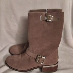 Vince Camuto Women's brown Windy Motorcycle Boot -